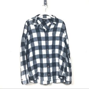 J. Crew Tops - Jcrew boy shirt in buffalo plaid charcoal 12